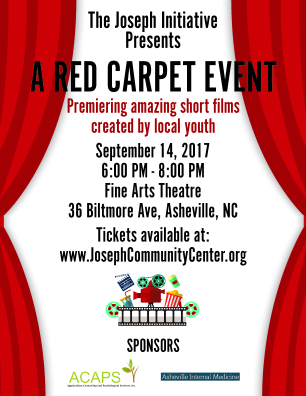 A Red Carpet Event: Premiering Amazing Short Films Created by Local Youth @ Fine Arts Theatre | Asheville | North Carolina | United States